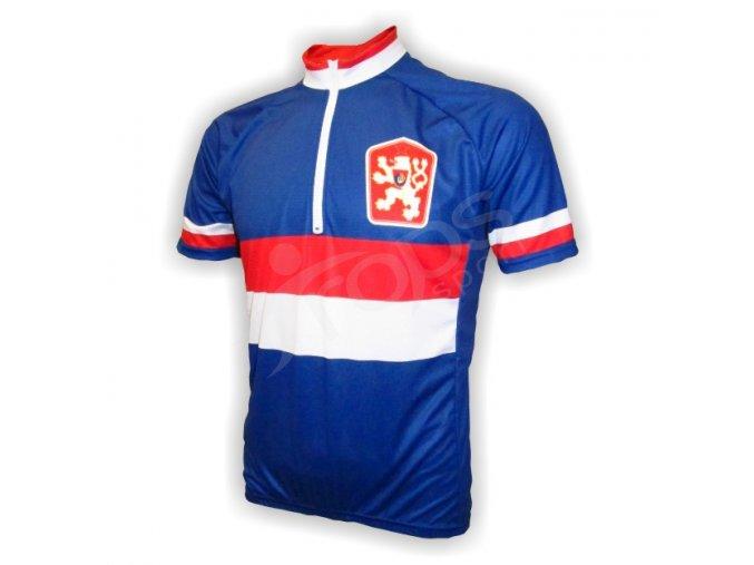 Cyklistický dres retro ČSSR - modrý