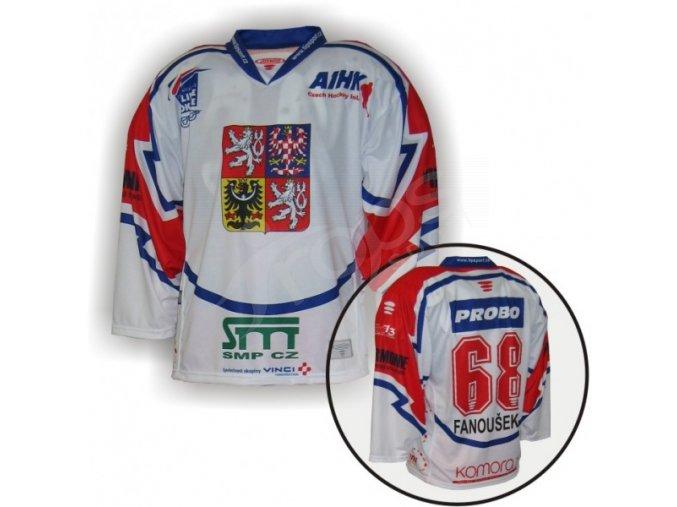 Hokejový dres in-line CZECH - bílý