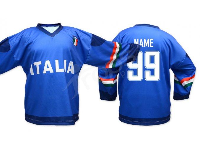Hokejový dres Itálie TOP - modrý
