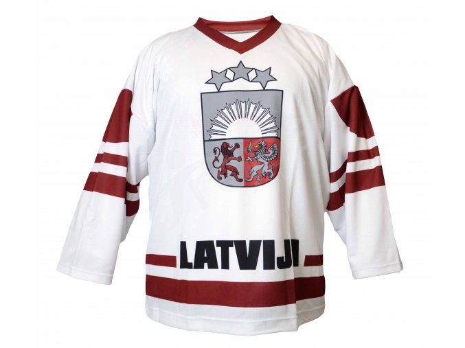 Hokejový dres Lotyšsko TOP - bílý