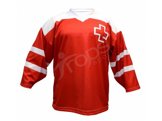Hokejový dres Švýcarsko TOP - červený