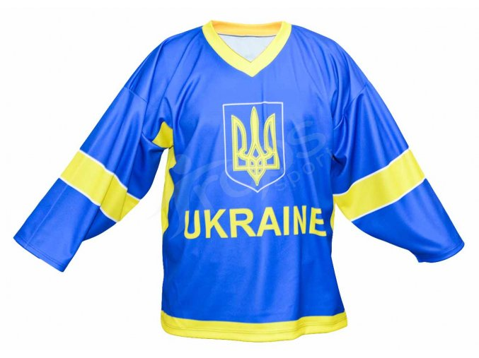 Hokejový dres Ukrajina TOP - modrý