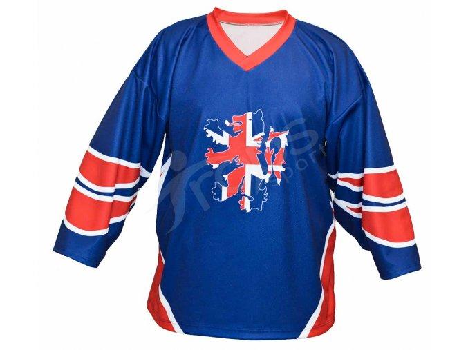 Hokejový dres Velká Británie TOP - modrý