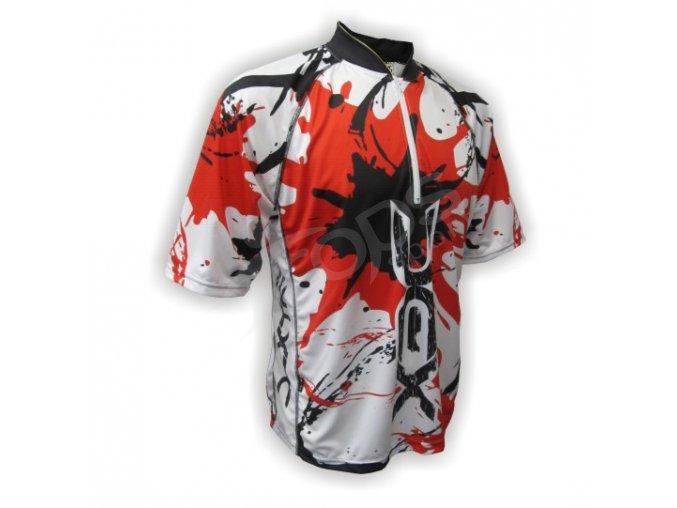 Cyklistický dres MTB SPLASH - červený