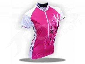 Cyklistický dres dámský IMAGE - růžový