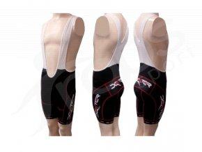 Cyklistické kalhoty s laclem IMAGE - krátké červené
