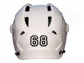 Číslo na hokejovou helmu