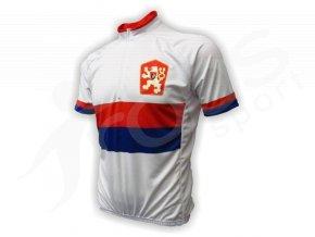 Cyklistický dres retro ČSSR - bílý