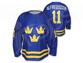 Hokejový dres Švédsko 2014/2015 TOP - modrý