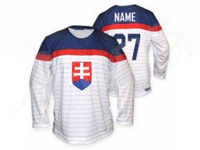 Hokejový dres Slovensko EXCLUSIVE, bílý