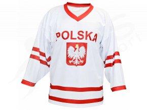 Hokejový dres Polsko TOP - bílý