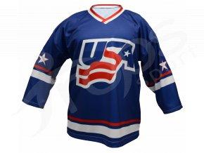 Hokejový dres USA TOP - modrý