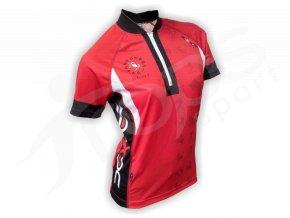 Cyklistický dres ZVĚROKRUH silniční dámský - červený