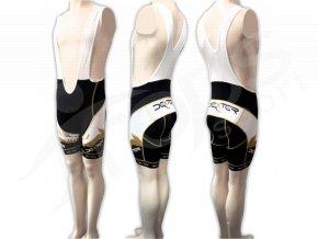 Cyklistické kalhoty s laclem FOOT - krátké zlaté